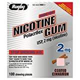 Rugby Nicotine Gum 2mg 100ct. Cinnamon *Compare to Nicorette Gum* by RUGBY LABORATORIES