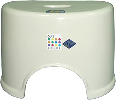 60's color 風呂椅子R型25cm アイボリー