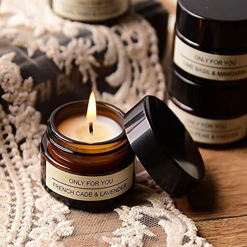 Velas perfumadas 100 % de cera de soja natural, velas perfumadas con lavanda y mandarina, aromaterapia, para el día de la madre, cumpleaños, San Valentín y uso diario.