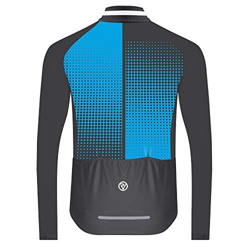 Proviz Classic Men's Long Sleeve Peloton Cycling Jersey Biking Cycle Top (M, Blue Dots)