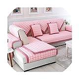azalea store Cubierta de sofá de café de Color Beige a Cuadros acolchar sección Muebles Fundas de sofá Cubre sofá Protector, 03,90cmx210cm