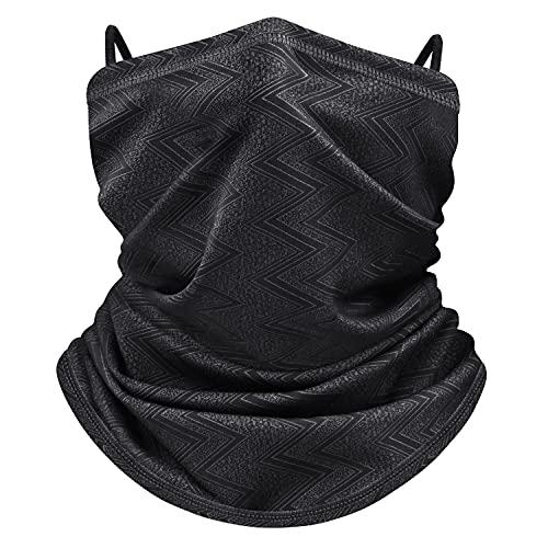 WACCET Braga Cuello Hombre Mujere, Calentador de Cuello Máscara UPF 50+ Protección UV Resistente al Viento Transpirable Multifuncional Polaina Cuello para Moto,Ciclismo,etc