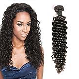 Echthaar Perücke Brazilian Hair Deep Wave 8a Tressen Weave 1 Bundle Unverarbeitete Haar Remy Hair Haarverlängerung Echthaar Tressen Natural Color 18 Inch