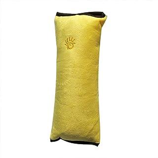 車のシートベルトカバー、子供のためのシートベルト枕、車両ショルダーパッドぬいぐるみ (黄)