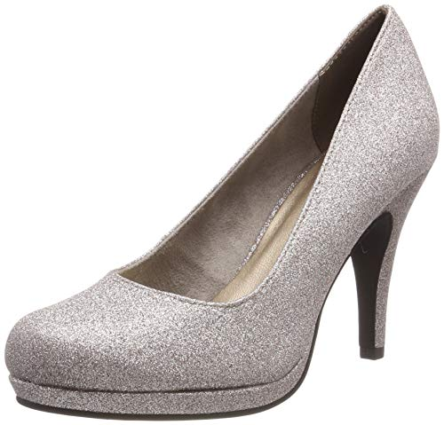 Tamaris Damen 1-1-22407-22 Pumps, Silber (Space Glam 960), 40 EU