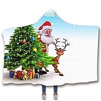 フランネル 毛布, 厚くする 保温する クリスマス 印刷 マント, 用 成人, こども-D-150×200cm