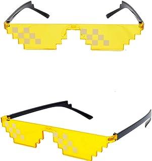 a4e3eb99d4 Vivianu Mosaico Colorido Gafas De Sol De Juguete Thug Life Gafas Trate De  Hacerlo Gafas Pixel
