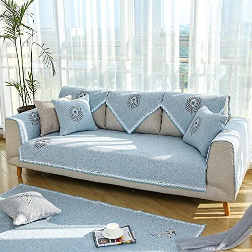 KENEL Antiincrustante Funda de sofá, Funda de sofá para Sala de Estar Forro de sofá para sofá en Forma de L Deslizamiento Suave,Cubiertas de Tapa de sofá de Tela de Tela de sofá Antideslizante (Solo