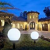 2 pz LED solare globo luce da giardino, impermeabile giardino Globe luci paletto, decorazione in terra palla solare luci per esterni terrazzo/prato/cortile/percorso