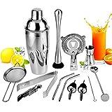 ZRXRY Cocktail Shaker Set, 13 Stück Barkeeper Kit für Drink Mischen, Edelstahl-Stab-Werkzeug mit...