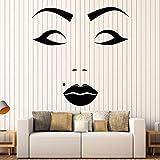 Belle Femme Visage Vinyle Stickers Muraux Beauté Spot Salon Maquillage Autocollant...