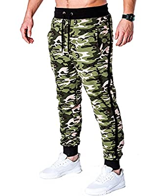 BetterStylz AngelBZ Men' s Camoflage Track Pants Jogging Slim Fit Fitness Trousers Bottoms Army Pattern (XS-XXL)