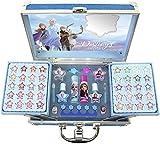 Disney- Frozen II Princess Makeup Traincase, Color azul, Talla Única (Markwins 1599018E)