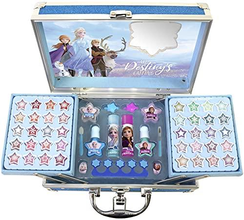 Disney Frozen Princess Makeup Traincase, color azul, Talla Única (Markwins 1599018E)