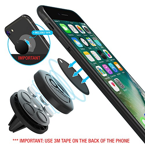 Maxboost Car Mount, [2 Pack] Universal Air Vent Magnetic Phone Car Mounts Holder for iPhone 11 Pro Xs Max XR X 8 7 Plus 6, Galaxy S20 Ultra S10 S10e 5G S9,LG,Note 10 /Mini Tablet(Compatible Most Case)