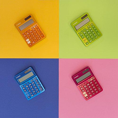 Canon LS-123K Desktop Basic Calculator, Metallic Orange, RA49371, 8.90in. x 5.80in. x 1.00in.