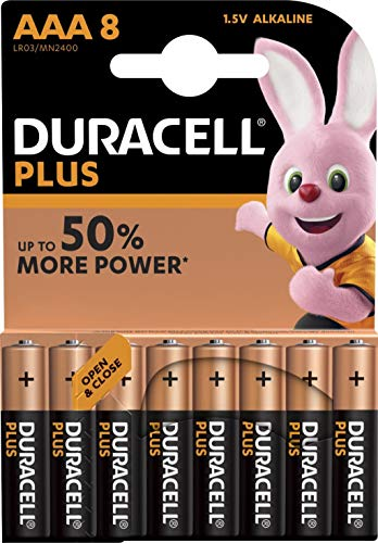Duracell Batterie AAA,Micro (LR03,MN2400) Plus Power;8 Pack