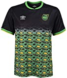 Umbro Men's Jamaica National Team Away Soccer Jersey, Black/Yellow/Green Small