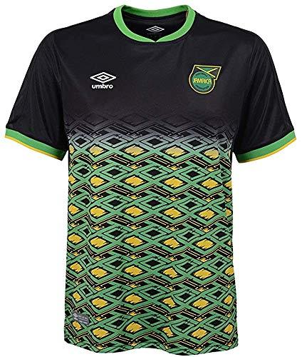 Umbro Men's Jamaica National Team Away Soccer Jersey, Black/Yellow/Green Medium
