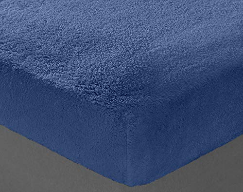 Teddy Bear Bedding Fleece Duvet Quilt Cover Duvet Cover set - Single/Double/King Size/Super King Sizes (French Blue, Single Bed)
