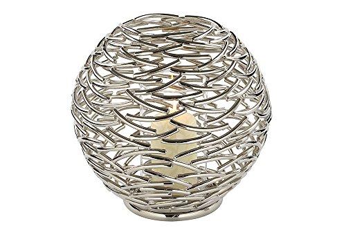 Fink - Corona - Windlicht/Kerzenhalter - Metall vernickelt - Ø 36 cm
