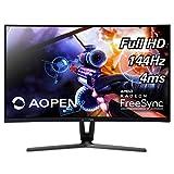 AOPEN 27HC1R Pbidpx 27-inch 1800R Curved Full HD (1920 x 1080) Gaming AMD Radeon FreeSync and NVIDIA G-SYNC Compatible Monitor (Display, HDMI & DVI Ports),Black