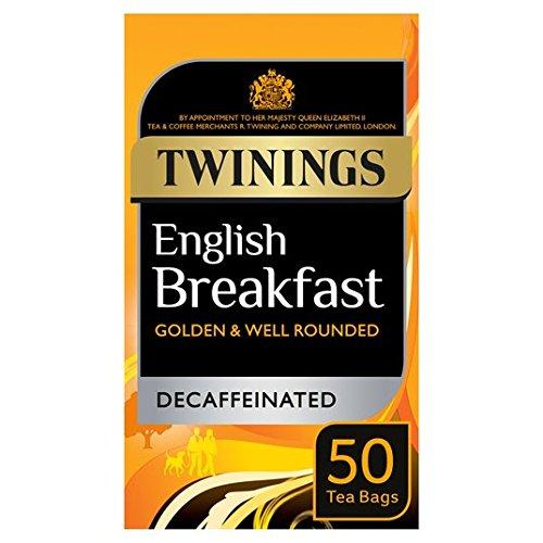 Twinings Bolsas De Té Del Desayuno Inglés Descafeinados 50 Por Paquete