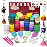 GSYXY Modeling Clay Starter Kit, 50 Colors Air Dry Clay with Creation Book, Accessories Set, 14 Hard Tools, 27 Ounce, PP Bag, Gift Boxes