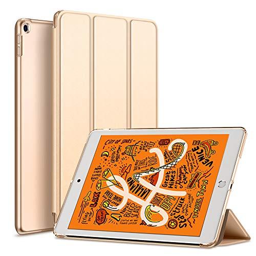 KenKe iPad Mini 5 Case 2019 7.9 inch,Ultra Slim Lightweight Smart Cover PU Translucent with Auto Sleep/Wake for iPad case New iPad Mini 5th Generation (Gold)