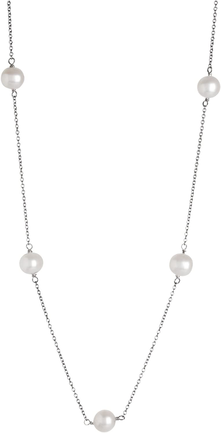 Tin Cup Station Sterling Silver White Chain C Freshwater shop 7-7.5mm Seattle Mall