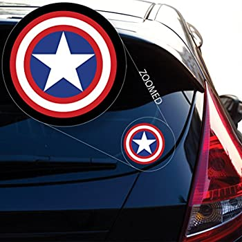 Yoonek Graphics Captain AmericaDecal Sticker for Car Window Laptop and More # 558  4  x 4