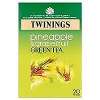Twinings Green Tea Pineapple & Grapefruit Flavour Tea Bags (20 per pack) トワイニング緑茶パイナップルとグレープフルーツフレーバーティーバッグ(パックあたり20 )