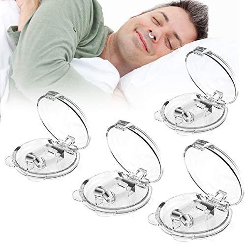YOKIO 4 Stück Anti Schnarch Nasenclip - Premium Schnarchstopper - Magnetisch Nasenklammer gegen Schnarchen Nasenspreizeraus aus Silikon Anti Schnarch Hilfe für natürlichen komfortablen Schlaf