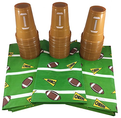 Football Style Party Table Supplies