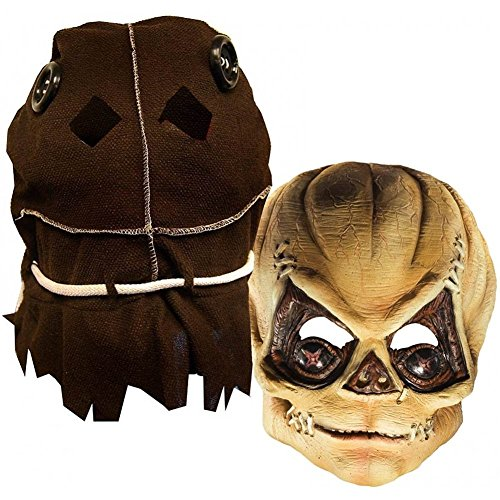 Rubie's Costume Deluxe Trick R' Treat Mask Burlap Sack, Brown, One Size
