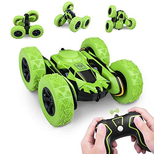UNIROI Ferngesteuertes Auto, wiederaufladbares RC-Stunt-Rennauto. Drahtlose Fernbedienung, 360 ° drehbares Geländewagen, gutes Geschenk für Kinder, Jungen