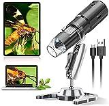 WiFi Microscopio Digital,YINAMA 50X-1000X Magnificación Portátil Mini WiFi Cámara de inspección...