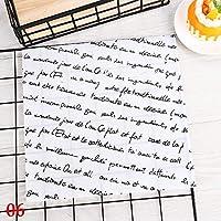 XZJWL 50PCS /パックワックスペーパー防水食品グリースプルーフラッパーパンオイル紙ベーキングラッパーパンのサンドイッチ包装紙 (Color : 6)