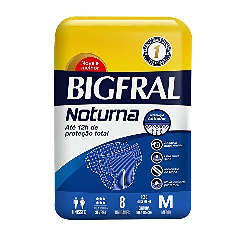 Fralda Adulto Bigfral Noturna, M, 8 unidades