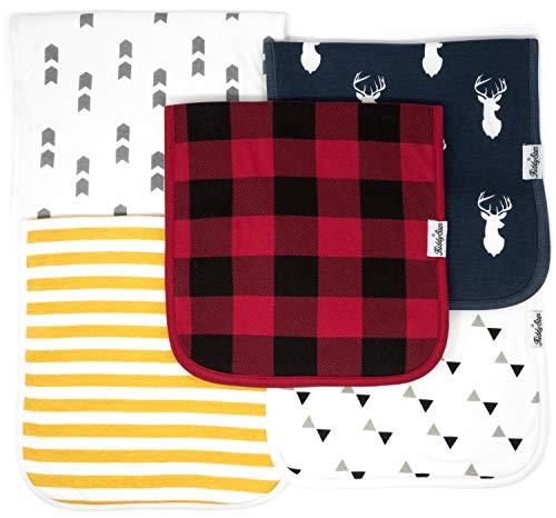 KiddyStar - Juego de baberos bandana para bebé, baberos para niños y niñas, regalo para recién nacidos, 100% algodón orgánico, suave y absorbente, elegante y unisex, para babear y dentición