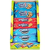 Nabisco Snack Pack Variety Cookies Mix with Oreo, Chips Ahoy! & Nutter Butter, 12 Count Box