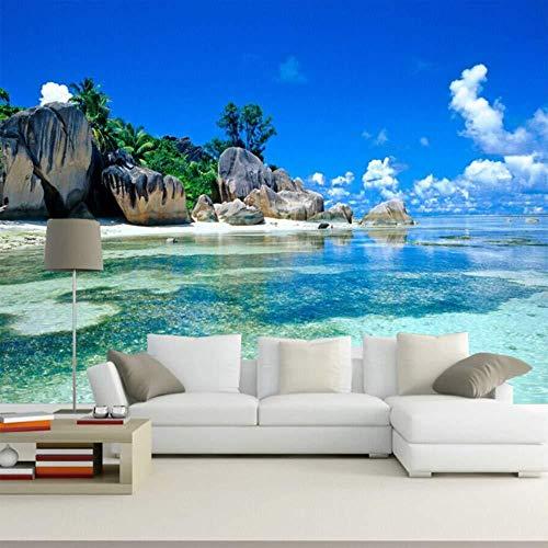 3d wallpaper wandbild schlafzimmer livig zimmer tv sofa hintergrundbild ozean meer strand 3d foto tapete wohnkultur fototapete 3d Tapete effekt Vlies wandbild Schlafzimmer-300cm×210cm