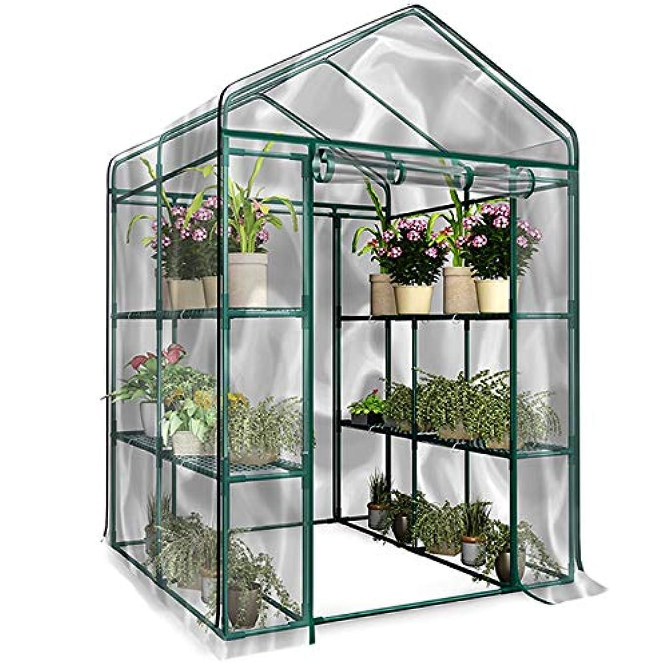 オプショナル圧力圧力RETYLY PVC暖かい庭層ミニ家庭用植物温室カバー防水アンチUV 庭の植物の花を守る (鉄スタンドなし)