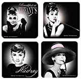Audrey Hepburn Coaster Set Of 4 Breakfast At Tiffany's