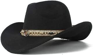 SHENTIANWEI Men Women Vintage Western Cowboy Hat Sombrero Hat Church Hat Wide Brim Sombrero Cap Bowler Fascinator Hat Size 56-58CM