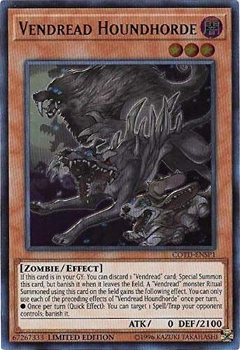 Yu-Gi-Oh! Vendread Houndhorde - COTD-ENSP1 - Ultra Rare - Limited Edition - Code of The Duelist Sneak Peek Participation Card