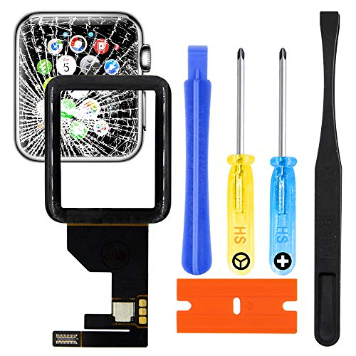 MMOBIEL Kit di Riparazione Vetro Lente digitizer Frontale di Ricambio incl connettore Compatibile con Apple Watch Series 1 42mm