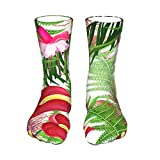 QUEMIN Christmas gift set Seamless Pattern With Bright Flowers And Leaves Womens Socks Fuzzy Socks Soft Fluffy Socks Socks Winter Gifts Socks Sports Outdoor Sock Athletic Socks
