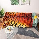 Tigre Pattern Pattern Lanzamiento Manta de algodón Sofá Sofá Toalla Sofá Cubierta Silla Mantel Manta,90 * 150cm