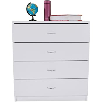 4 DRAWER DRESSER CHEST Bedroom Storage Wood Furniture Modern Clothes Cabinet